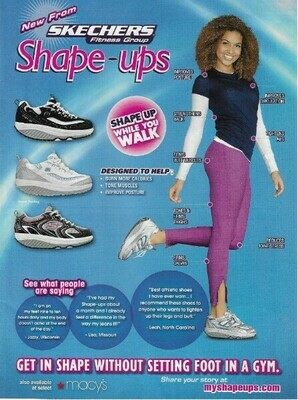 Skechers / Shape-Ups - Shape Up While You Walk | Magazine Ad | March 2010