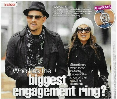 Madden, Joel / Rock Star   2 Magazine Photos with Caption   March 2010   with Nicole Richie