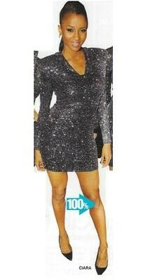 Ciara / In Brian Lichtenberg Dress   Magazine Photo   March 2010