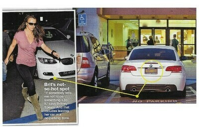 Spears, Britney / Brit's Not-So-Hot Spot   2 Magazine Photos with Caption   March 2010
