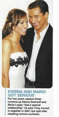 Lopez, Mario / Karina and Mario Got Serious   Magazine Photos with Caption   March 2010