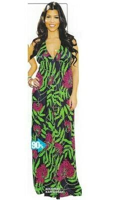 Kardashian, Kourtney / Wearing Maxi Dress   Magazine Photo   March 2010