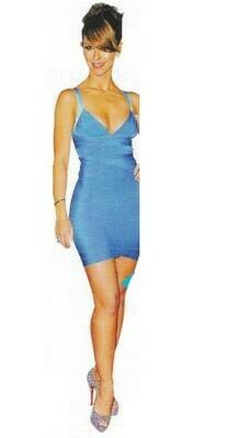 Hewitt, Jennifer Love / Wearing Blue Herve Leger Dress   Magazine Photo   March 2010