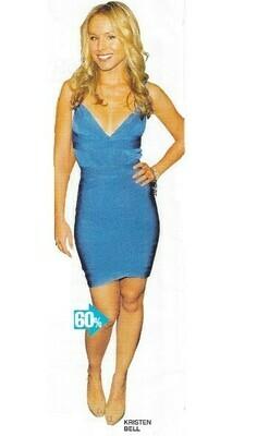 Bell, Kristen / Wearing Blue Herve Leger Dress   Magazine Photo   March 2010