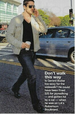 Butler, Gerard / Don't Walk This Way   Magazine Photo with Caption   March 2010