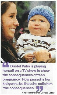 Palin, Bristol / Playing Herself On TV   Magazine Photo with Caption   March 2010