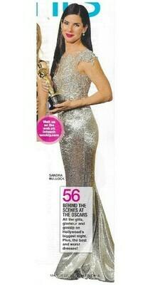 Bullock, Sandra / Holding Oscar   Magazine Photo with Caption   March 2010