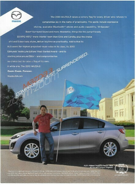 Mazda / Mazda 3 - Compromise Just Surrendered | Magazine Ad | March 2010