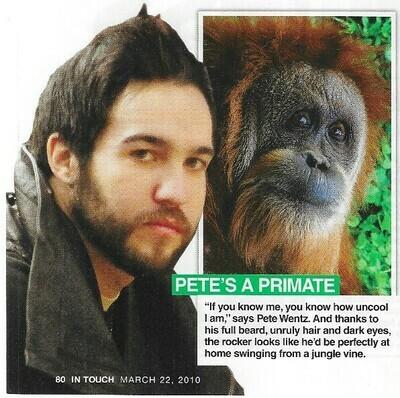 Wentz, Pete / Pete's a Primate   2 Magazine Photos with Caption   March 2010