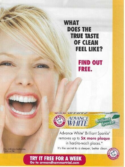 Arm + Hammer / Advance White   Magazine Ad   March 2010