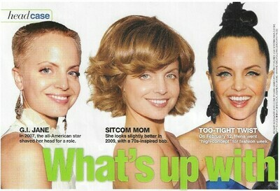 Suvari, Mena / What's Up with Mena's Hair?   6 Magazine Photos with Caption   March 2010