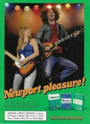 Newport (Cigarettes) / Newport Pleasure! | Magazine Ad | March 2010