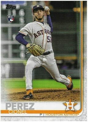 Perez, Cionel / Houston Astros | Topps #392 | Baseball Trading Card | 2019 | Rookie Card