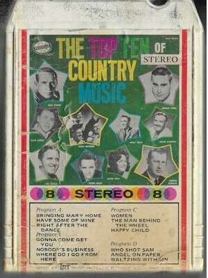 Various Artists / The Top Ten of Country Music | Nashville 869-2048 | White Shell | 8-Track Tape | 1967