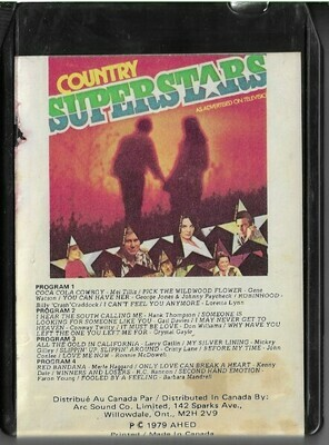 Various Artists / Country Superstars | Ahed TV8-79048 | Black Shell | 8-Track Tape | 1979
