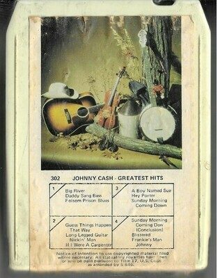 Cash, Johnny / Greatest Hits | American Entertainment Co. 302 | White Shell | 8-Track Tape