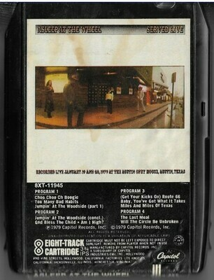 Asleep At the Wheel / Served Live | Capitol 8XT-11945 | Black Shell | 8-Track Tape | 1979