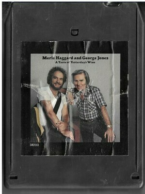 Haggard, Merle (and George Jones) / A Taste of Yesterday's Wine | Epic FEA-38203 | Light Black Shell | 8-Track Tape | August 1982