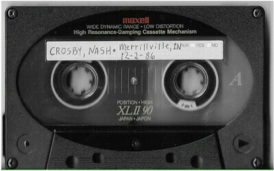 Crosby, David (+ Graham Nash) / Merrillville, IN | Live Cassette | December 1986