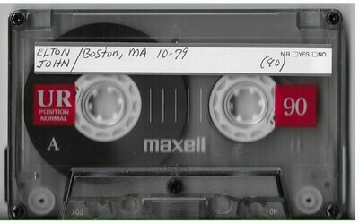 John, Elton / Boston, MA (Boston Music Hall) | Live Cassette | October 1979