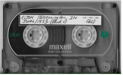 John, Elton / Bloomington, IN (Indiana University Assembly Hall) | Live Cassette | October 1973 | 2 Tapes