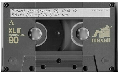 Raitt, Bonnie / Los Angeles, CA + Philadelphia, PA | Live Cassette | November 1990 and February 1972