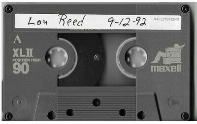 Reed, Lou / Chicago, IL (Tinley Park) | Live Cassette | September 1992