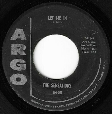 Sensations, The / Let Me In | Argo 5405 | Single, 7