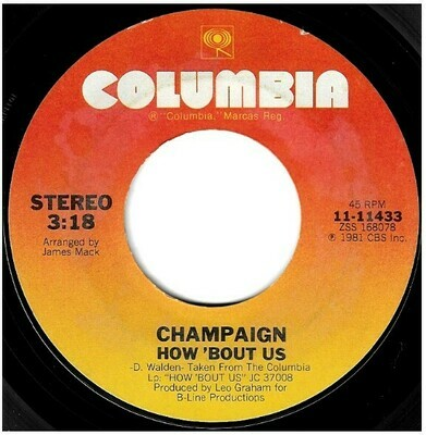 Champaign / How 'Bout Us | Columbia 11-11433 | Single, 7