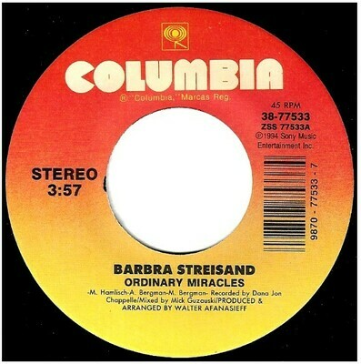 Streisand, Barbra / Ordinary Miracles | Columbia 38-77533 | Single, 7