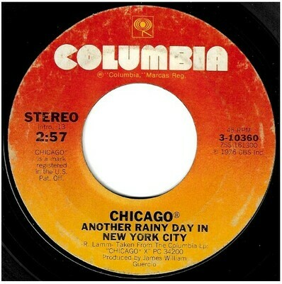 Chicago / Another Rainy Day in New York City | Columbia 3-10360 | Single, 7