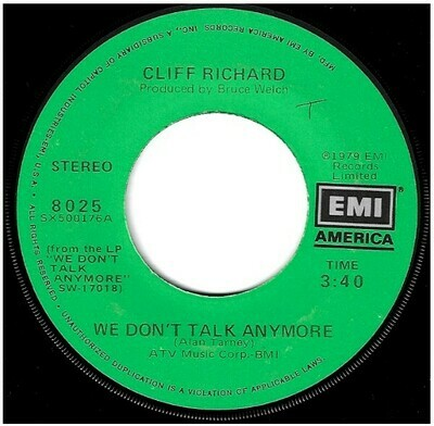 Richard, Cliff / We Don't Talk Anymore | EMI America 8025 | Single, 7