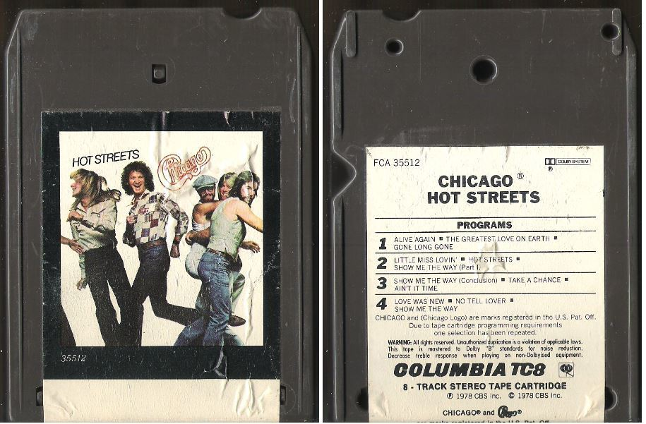 Chicago / Hot Streets (1978) / Columbia FCA-35512 (8-Track Tape)