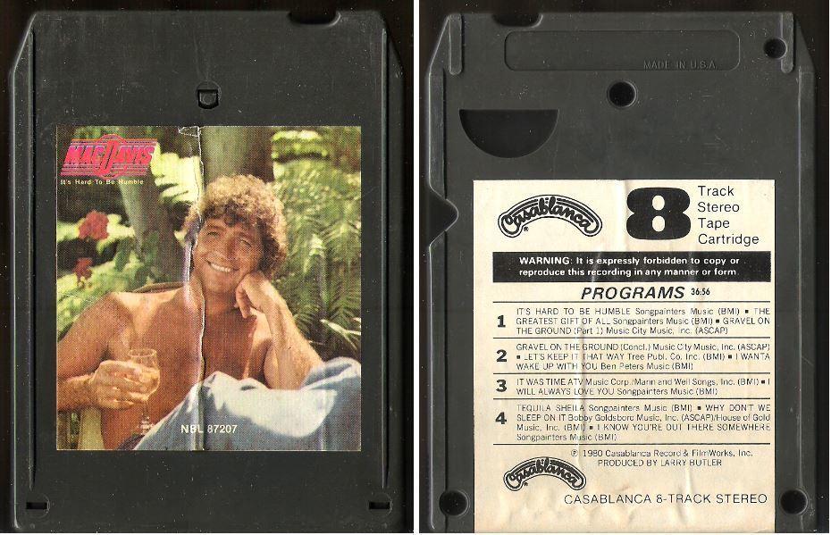 Davis, Mac / It's Hard To Be Humble (1980) / Casablanca NBL-87207 (8-Track Tape)