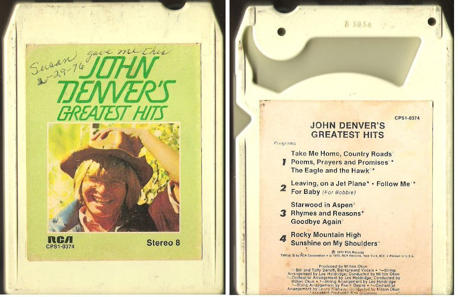 Denver, John / Greatest Hits (1973) / RCA CPS1-0374 (8-Track Tape)