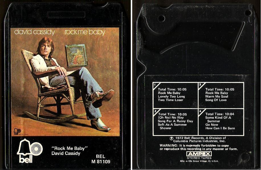 Cassidy, David / Rock Me Baby (1972) / Bell M-81109 (8-Track Tape)