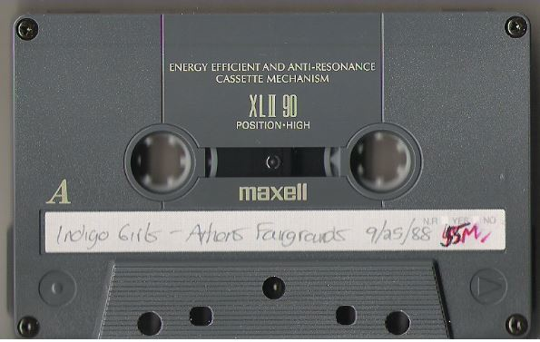Indigo Girls / Athens, GA - Fairgrounds (1988) / September 25, 1988 (Live + Rare Cassette)