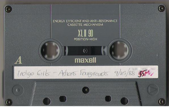 Indigo Girls / Athens, GA - Fairgrounds (1988) / September 25, 1988 (Live + Rare Cassette)
