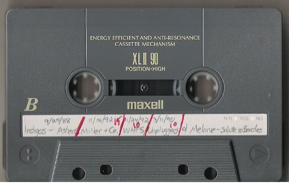 Indigo Girls / Nashville, TN - Miller + Company (1992) / November 18, 1992 (Live + Rare Cassette)