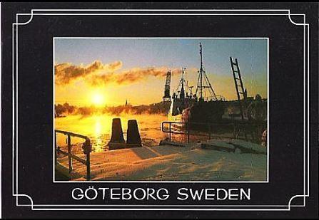 Sweden / Goteborg, Sweden / Winter in the Harbour (Postcard)
