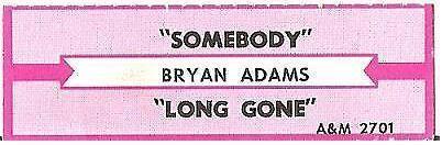 Adams, Bryan / Somebody (1985) / A+M 2701 (Jukebox Title Strip)