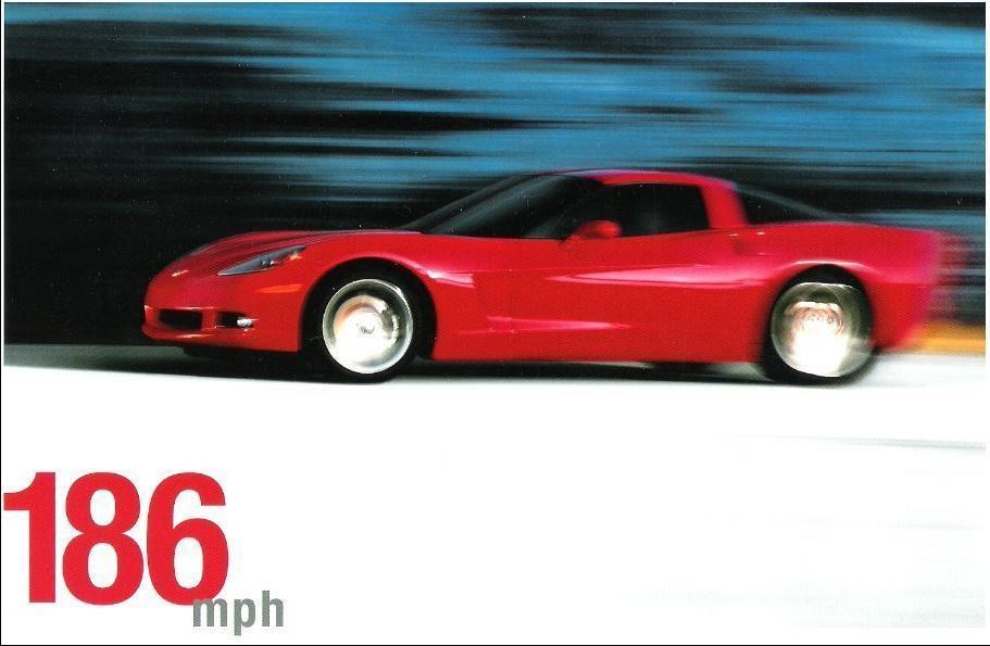 Chevrolet / Corvette (2004) / An American Revolution (Promo Card Ad) / Red Car