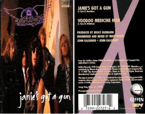 Aerosmith / Janie's Got a Gun (1989) / Geffen 4-22727 (Cassette Single)