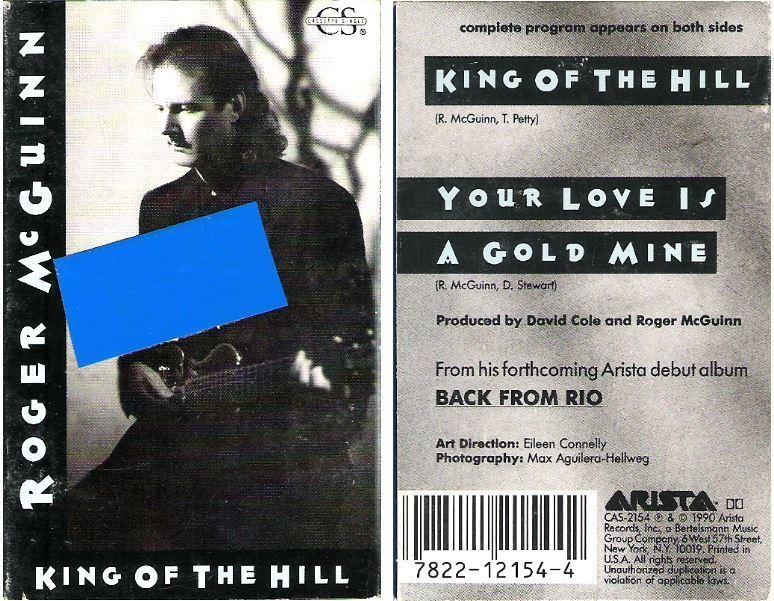 McGuinn, Roger / King of the Hill (1990) / Arista CAS-2154 (Cassette Single)