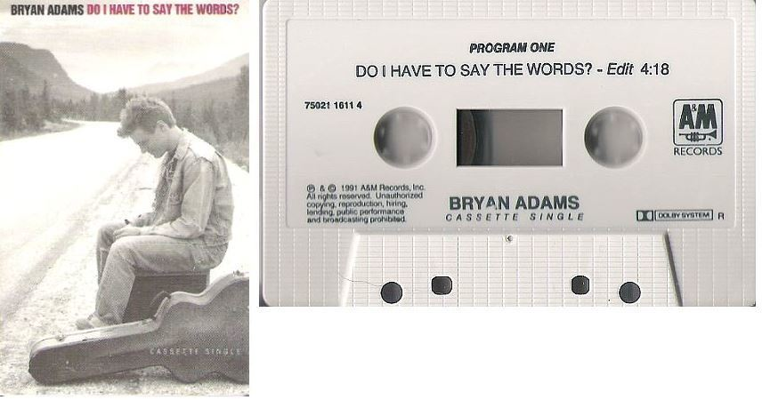Adams, Bryan / Do I Have To Say the Words? (1991) / A+M 75021 1611-4 (Cassette Single)