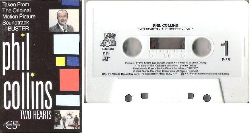 Collins, Phil / Two Hearts (1988) / Atlantic 4-88980 (Cassette Single)