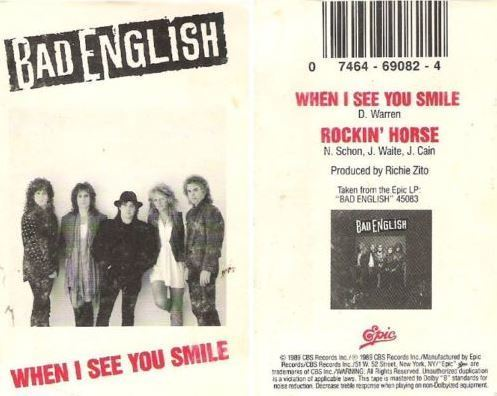 Bad English / When I See You Smile (1989) / Epic 34T-69082 (Cassette Single)