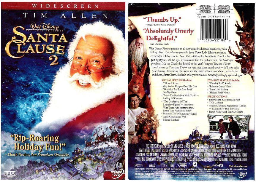 Santa Clause 2 / Tim Allen, Eric Lloyd, Elizabeth Mitchell (2003) / Disney 31156 (DVD)