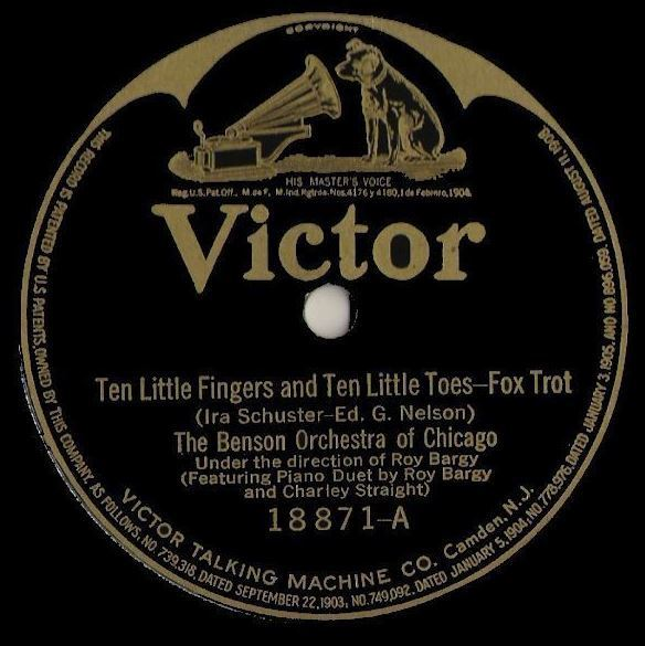 "Benson Orchestra of Chicago / Ten Little Fingers and Ten Little Toes (1922) / Victor 18871 (Single, 12"" Shellac)"