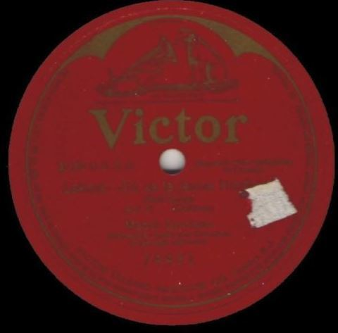 "Garrison, Mabel / Lakme - Ou va la jeune Hindoue (Bell Song) (1916) / Victor 74491 (Single, 12"" Shellac)"